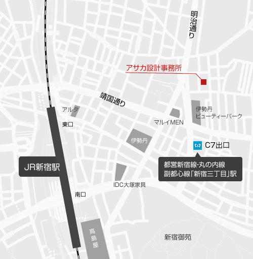 アサカ設計事務所地図